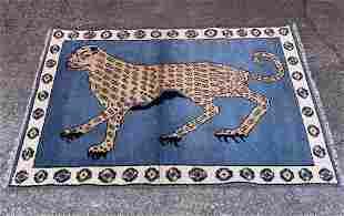 Pictorial Persian Wool Rug 4' x 6'