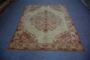 """Antique Turkish Oushak Wool Rug 6'8"""" x 8'6"""""""