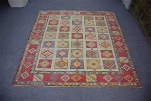 """A Beautiful Turkish Oushak Large Square Rug 8'3"""" x 8'5"""""""