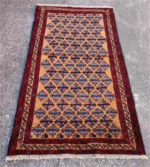 """Afghani Vintage Wool Rug 3'5"""" x 6'"""