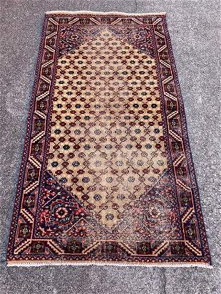 """A Small Vintage Persian Rug 2'11"""" x 4'3"""""""