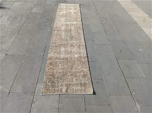 "Vintage Turkish Wool Runner Rug 2'1"" x 9'10"""