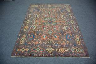 """Turkish Oushak All Over Pattern Wool Rug 5'2"""" 6'10"""""""