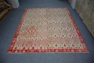 """Antique All Over Pattern Turkish Rug 8'9"""" x 10'3"""""""