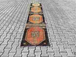 "Vintage Turkish Konya Runner Rug 2'5"" x 11'7"""