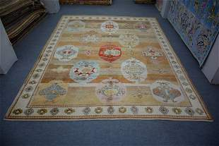 """All Hand Knotted Turkish Oushak Wool rug 10' x 13'2"""""""