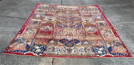 """Pictorial Room Size Beautiful Persian Rug 9'5"""" x 12'1"""""""