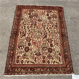 "Pictorial Persian Wool Rug 2'9"" x 3'10"""