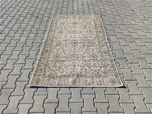 """Vintage Turkish Kayseri Wool Rug 3'8"""" x 6'2"""""""