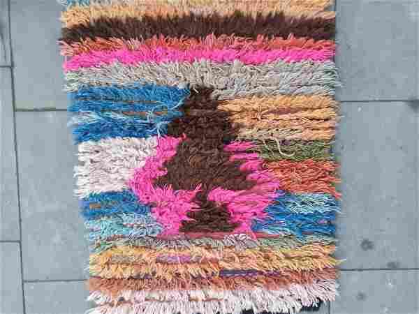 "Moroccan Style Turkish Wool Rug 2'3"" 3'3"""