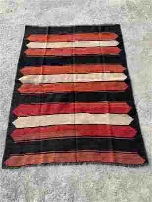 """Vintage Turkish Wool flatweave Kilim 3'9"""" x 5'6"""""""