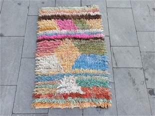 "Moroccan Style Turkish Wool Yastik Rug 2'2"" x 3'5"""