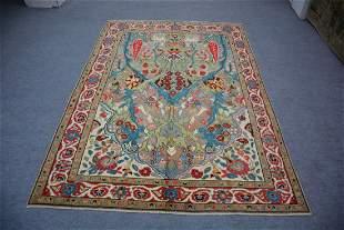 "Vintage Turkish Konya Wool Rug 6'1"" x 8'9"""