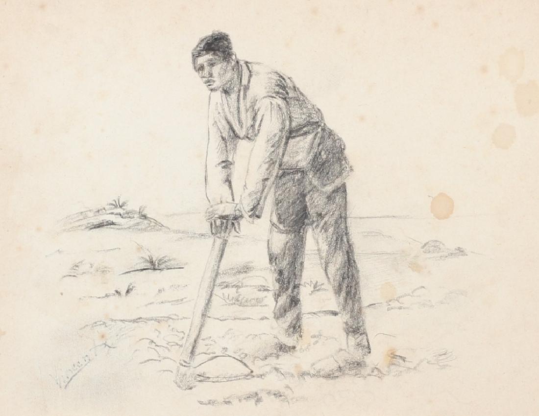 After Vincent Van Gogh Dutch (1853-1890) Charcoal