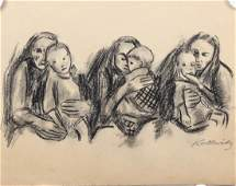 After Kathe Kollwitz German 18671945 Charcoal