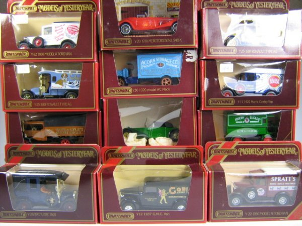 1211: MATCHBOX MODELS OF YESTERYEAR (12 PCS)