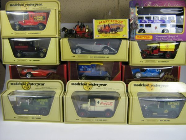 1212: MATCHBOX MODELS OF YESTERYEAR (12 PCS)