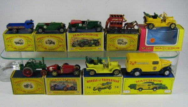 1214: MATCHBOX MODELS OF YESTERYEAR (9 PCS)