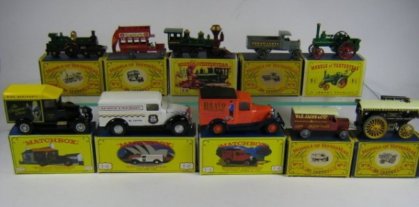 1215: MATCHBOX MODELS OF YESTERYEAR (10 PCS)