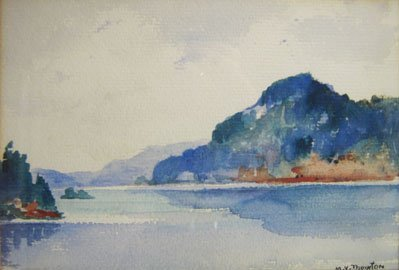 10: M.V.(MILDRED VALLEY) THORNTON WATERCOLOUR