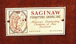 1043: SAGINAW FURNITURE TELESCOPIC TABLE - 3