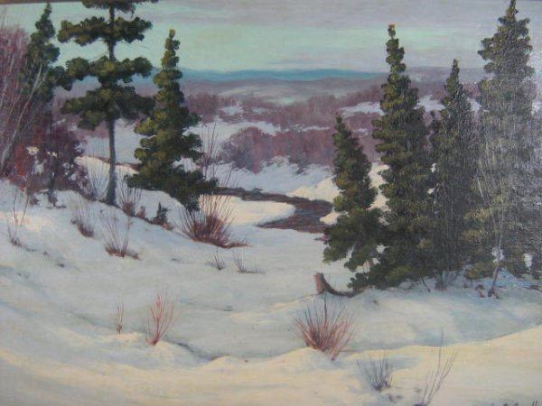 24: Frank E. Cavell  Canadian Art  Quebec  Painting