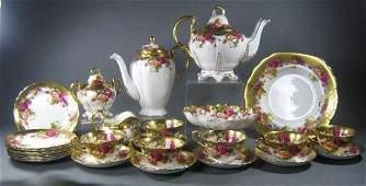 143: Royal Chelsea Golden Rose Tea Set