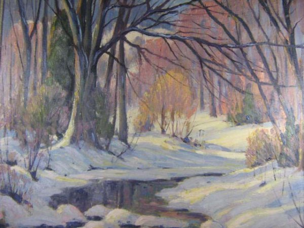 1001: Clayton Insley Canadian Winter Painting