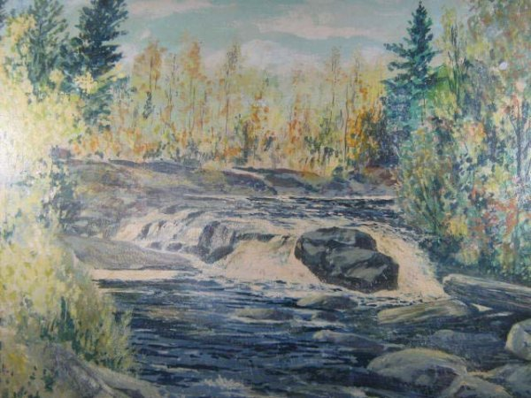1003: Leonard Heap Canadian Landscape Painting