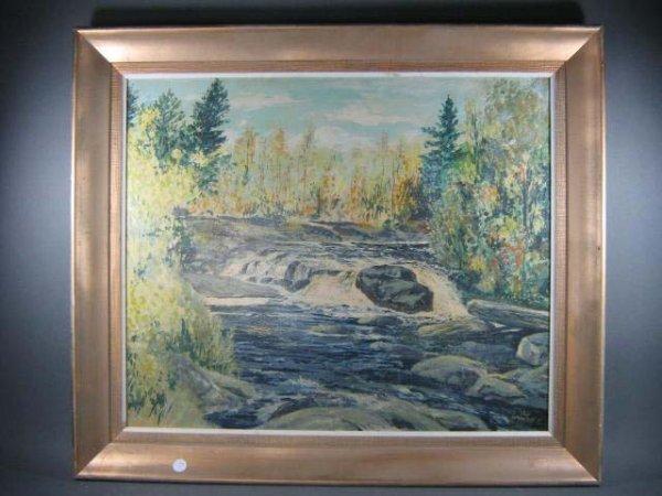 1003: Leonard Heap Canadian Landscape Painting - 2