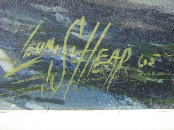 1003: Leonard Heap Canadian Landscape Painting - 3