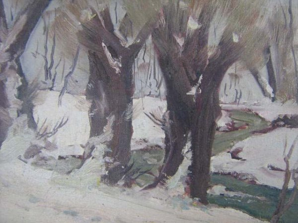 1004: Thomas Donges Canadian Landscape Painting