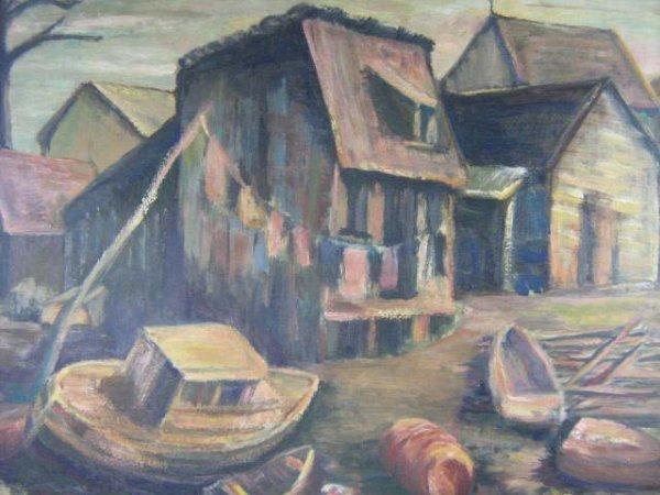 1007: P.M. Luchinsky Canadian Marine Painting