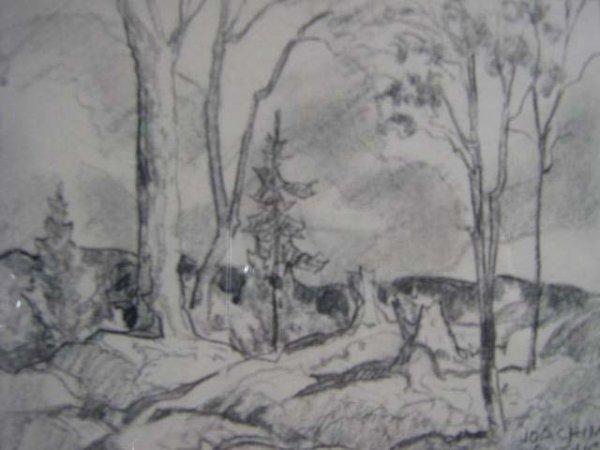 1009: Joachim Gauthier Canadian Original Sketch GO7