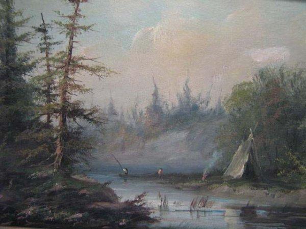 1014: 19th Century Canadian School Landscape Painting