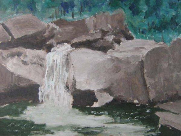 1018: Ron Simpkins Canadian Original Painting