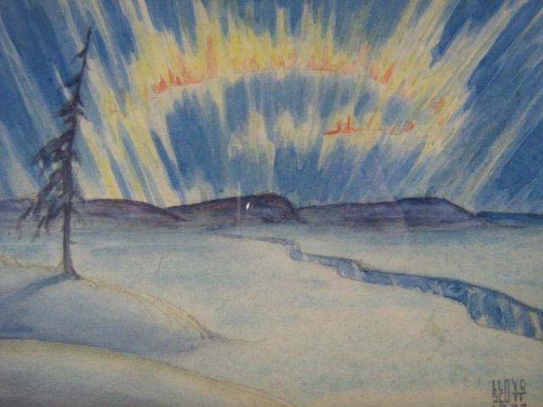 1019: Lloyd Scott Canadian Painting Illustration Origin