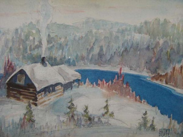 1020: Lloyd Scott Canadian Painting Illustration Origin