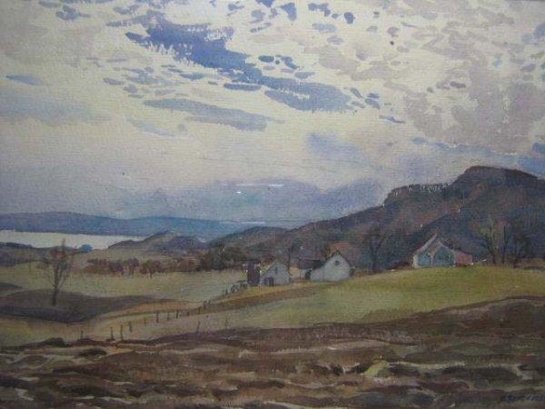 1021: Henry Simpkins Canadian Original Painting Oka