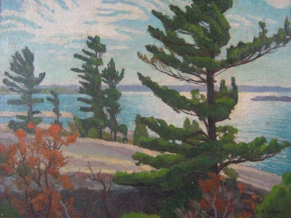 1023: Fred Haines Canadian Painting Original