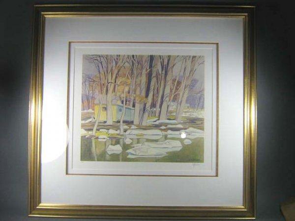 1024: A.J. Casson Canadian Rare Print Signed - 2