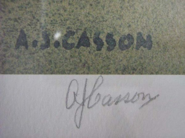 1024: A.J. Casson Canadian Rare Print Signed - 3