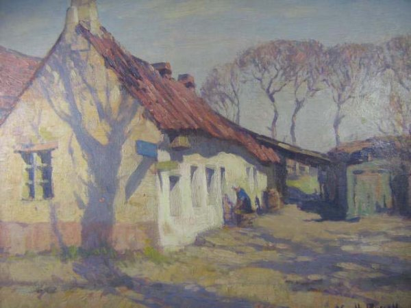 1041: Gyrth Russell Rare Canadian Art Original Quebec