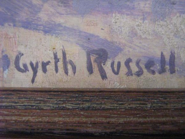 1041: Gyrth Russell Rare Canadian Art Original Quebec - 3