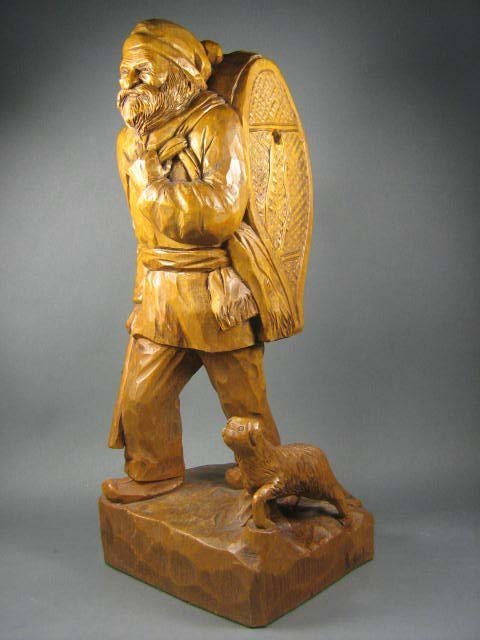 1126: S. Fortin Quebec Wood Carving
