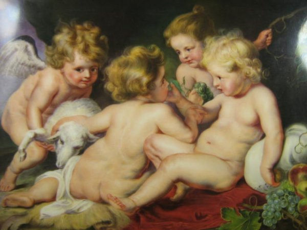 1229: KPM Porcelain Plaque after Rubens