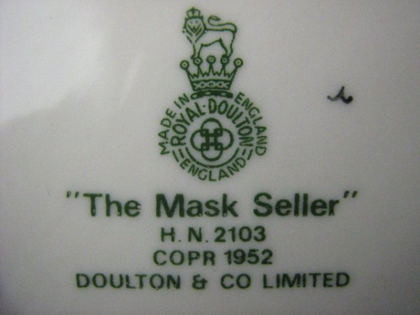 2005: Royal Doulton Figurine The Mask Seller - 2