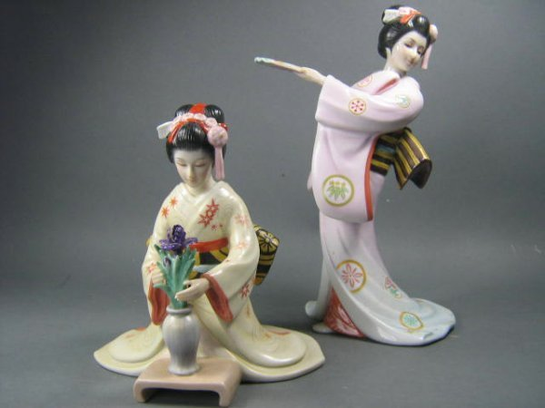 2057: Franklin Mint Oriental Figurines Lot