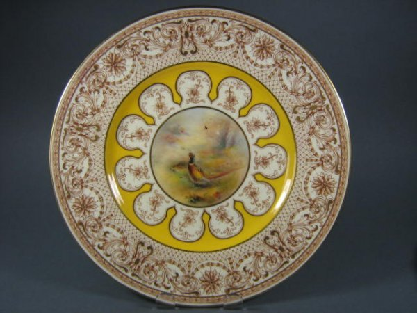 17: Royal Worcester Porcelain Grouse Plate