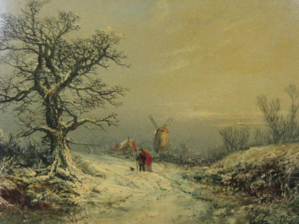 24: W. Levery Winter Oil Painting